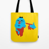 taxi driver Tote Bags featuring Taxi Driver by Eduardo Guima