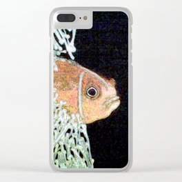 Glowing clownfish Clear iPhone Case