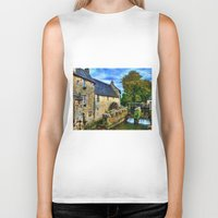 postcard Biker Tanks featuring French Postcard by Exquisite Photography by Lanis Rossi