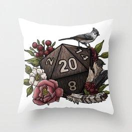 Druid Class D20 - Tabletop Gaming Dice Throw Pillow