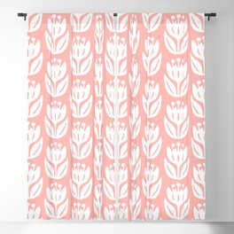 Mid Century Modern Flower Pattern Peach 333 Blackout Curtain