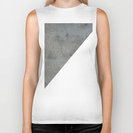 Concrete Vs White Biker Tank
