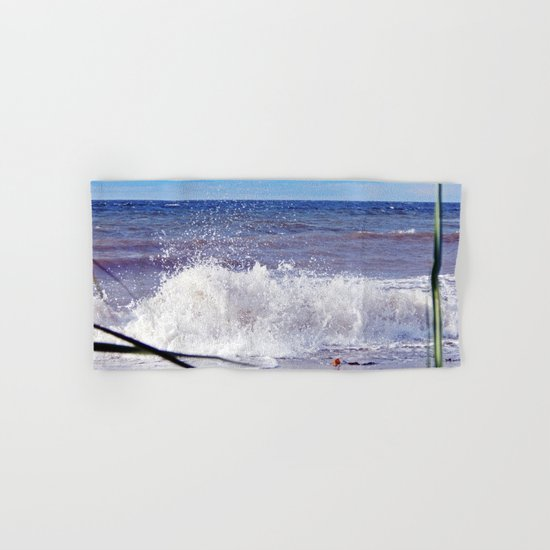 Wave Crashing onto the Beach Hand & Bath Towel