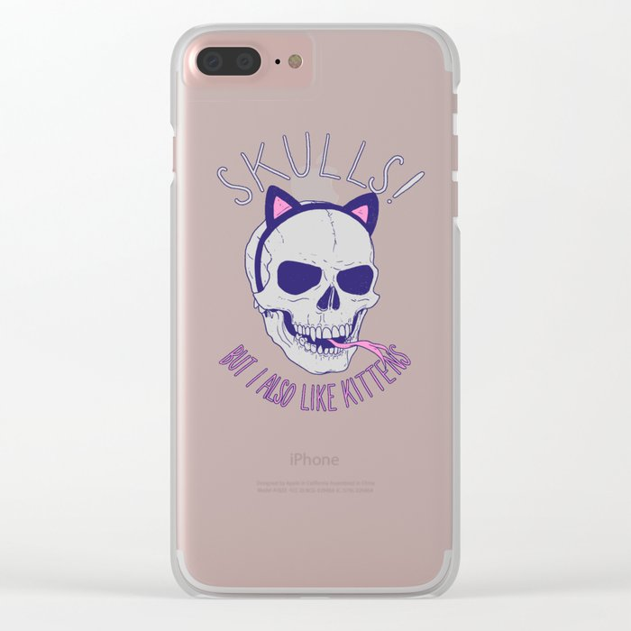 Skulls and Kittens Clear iPhone Case