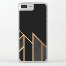 Black & Gold 035 Clear iPhone Case