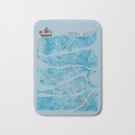 Moby Dick Book Cover Bath Mat