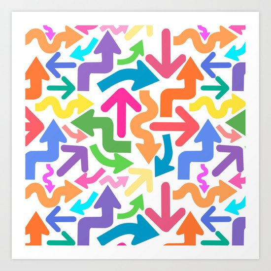 Arrow color Art Print