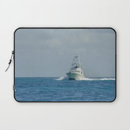 Fishing on ocean - infinity blue Laptop Sleeve