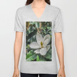 Soft Magnolia Unisex V-Neck