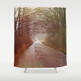 A Winter's Walk Shower Curtain