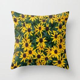 Black-Eyed Susan Cluster Throw Pillow