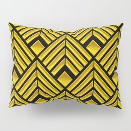 Exotic Art Deco Pattern: The Mademoiselle Is Incognito Pillow Sham