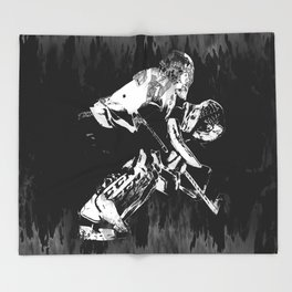Ice Hockey Goalie Throw Blanket