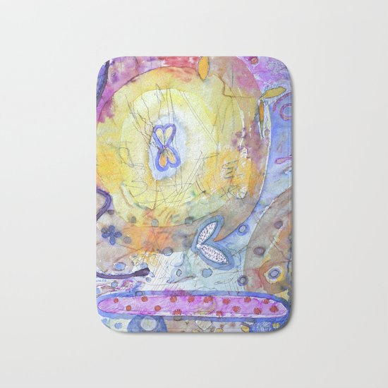 Creation with Wings Bath Mat