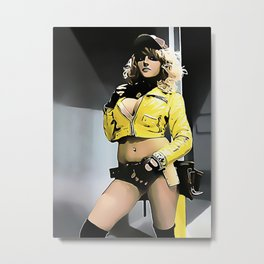 Sexy Final Fantasy - Cindy Cartoon 2 Metal Print