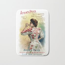 Ayers Pills Vintage Advertising Bath Mat
