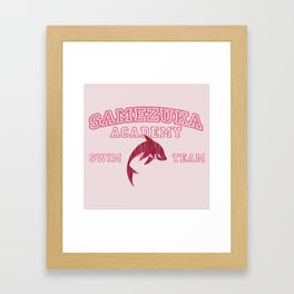 Samezuka - Shark Framed Art Print