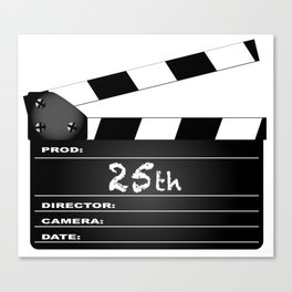 25th Year Clapperboard Canvas Print