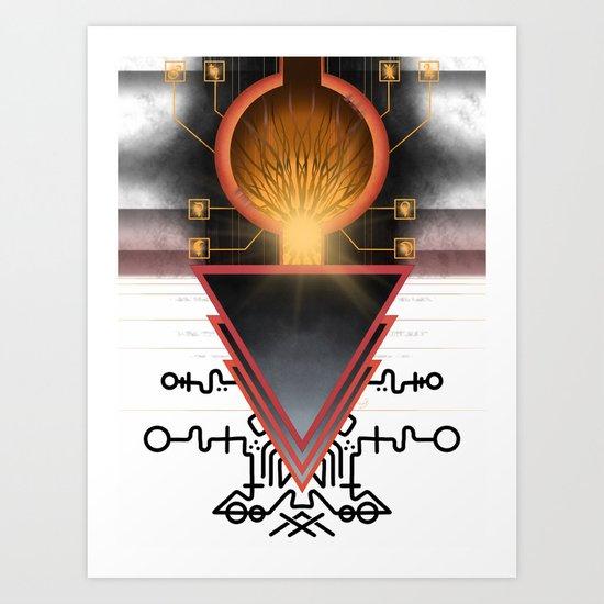 Cerebral Gateway of the Three Art Print