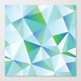 Ice Shards abstract geometric angles pattern Canvas Print