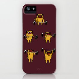 Clean and Jerks Pug iPhone Case