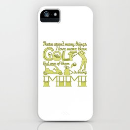 Golf Mimi iPhone Case