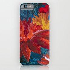 Fiery Dahlia Blossoms iPhone 6s Slim Case