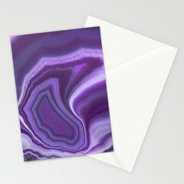 Purple colored agate Stationery Cards