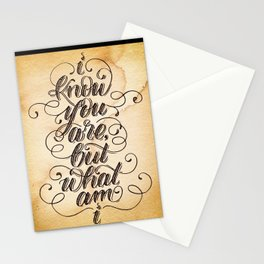 I Know You Are But What Am I Stationery Cards