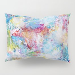 White Paint Splash Pillow Sham