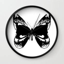 Butterfly Lips Wall Clock