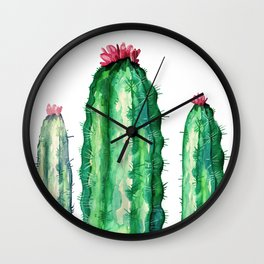 three big cactus Wall Clock