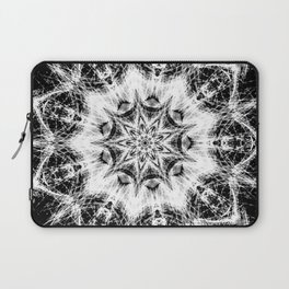 Atomic Black Center Swirl Mandala Laptop Sleeve