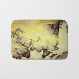 A Golden Winter Bath Mat