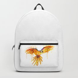 Flying Parrot watercolor Backpack