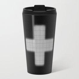 Halftone Plus Black Travel Mug