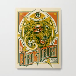 Rise Against band poster for appearance at record store Metal Print