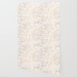 Geometric Gold Pattern on Gold Marble Wallpaper