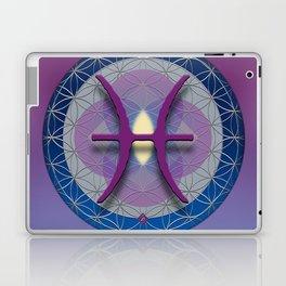 PISCES Flower of Life  Astrology Design Laptop & iPad Skin