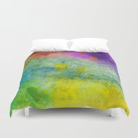 poop Duvet Covers featuring Unicorn Poop by Andrea Gingerich