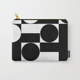 Black and White  Minimal Geometric 0087 Carry-All Pouch