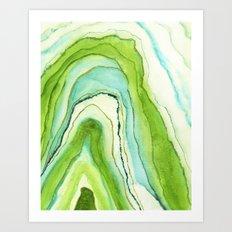 Agate Greenery Art Print