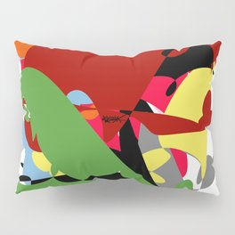 Forest of Colors, Abstract Art Pillow Sham