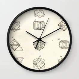 Geometric Crystals Diagram Wall Clock