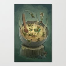Goblins Drool, Fairies Rule - Goblin Soup Canvas Print