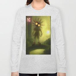 Skull kid in forest Long Sleeve T-shirt