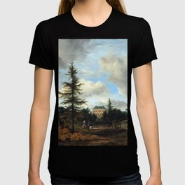 Jacob van Ruisdael Country House in a Park T-shirt