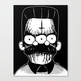 Black Metal Religious Guy Canvas Print