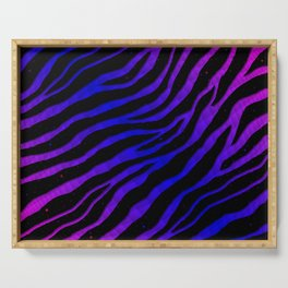 Ripped SpaceTime Stripes - Pink/Blue Serving Tray