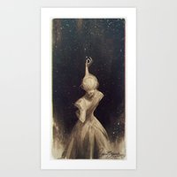 Art Prints featuring The Old Astronomer  by charliebowater